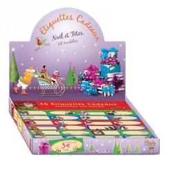 Planche de 48 Etiquettes Noël