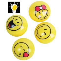 Balle lumineux smiley (lot de 12)
