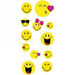Papeterie sticker smiley (lot de 24)