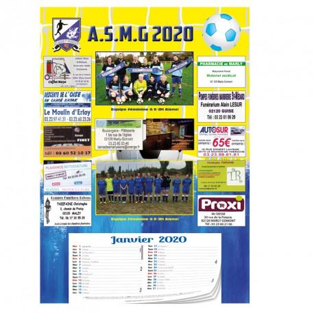Calendrier sponsors A3 Recto Avec bloc