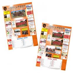 Calendrier sponsors A3 Recto-Verso Avec bloc