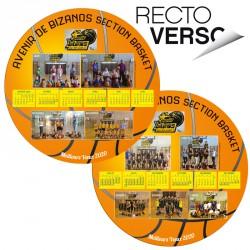 Calendrier ballon Recto Verso