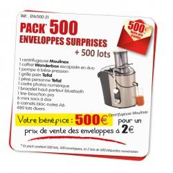 Pack 500 enveloppes surprises