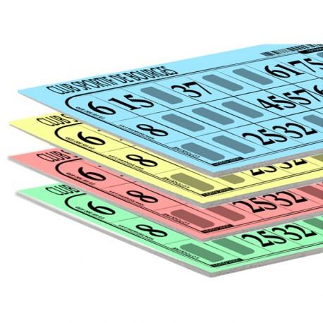 Carton de loto très épais personnalisé (lot de 500)