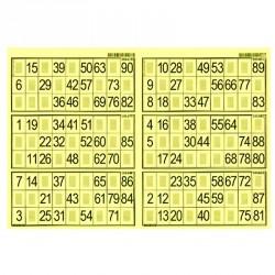 Plaques de 6 cartes de loto Bristol (lot de 83)