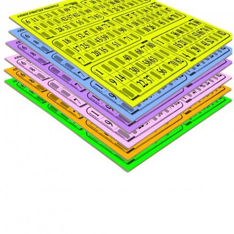 Plaques de 6 cartes de loto Bristol personnalisées (lot de 83)
