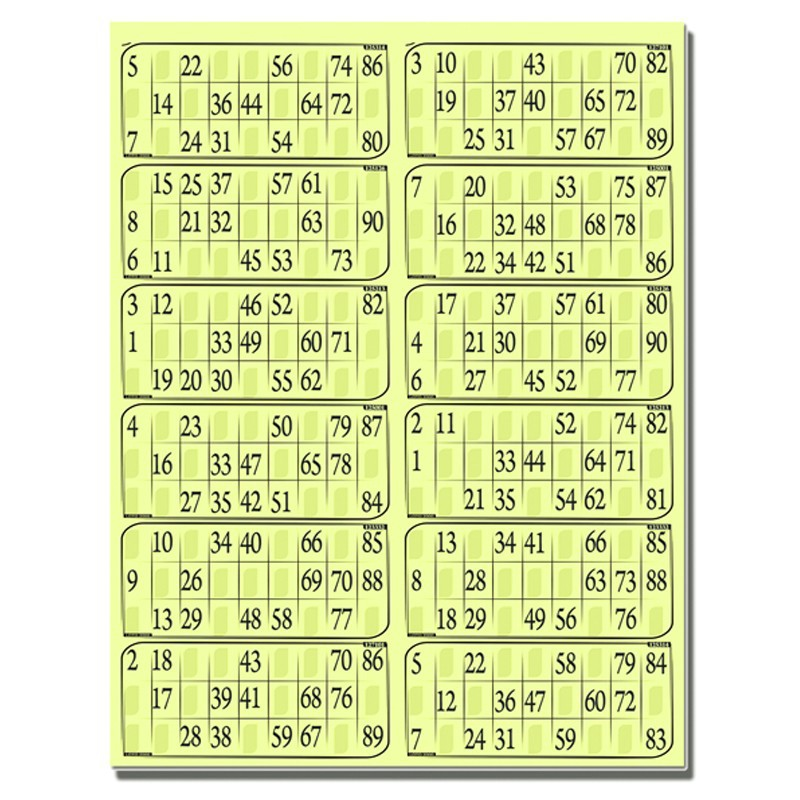 Cartons de loto - Grille de bingo a imprimer gratuit ...
