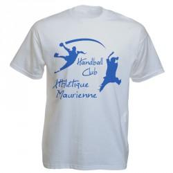 Tee-shirt blanc personnalisé : 1 couleur sur 1 face
