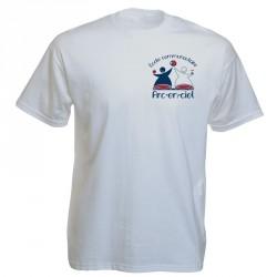 Tee-shirt blanc personnalisé : 2 couleurs sur 1 face