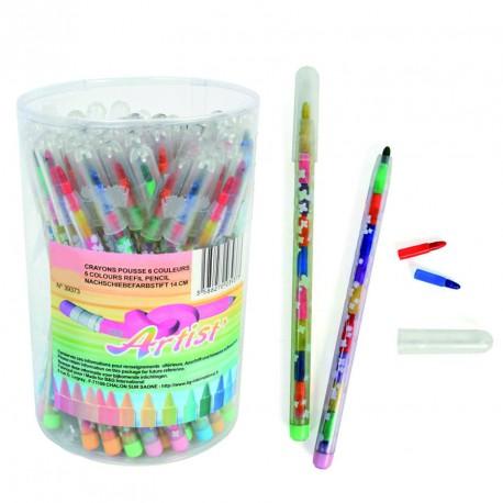 Crayon pousse-mine (lot de 72)