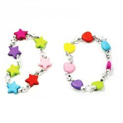 Bracelet cœur étoile (lot de 72)