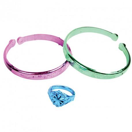 Bracelets et bague (lot de 12)