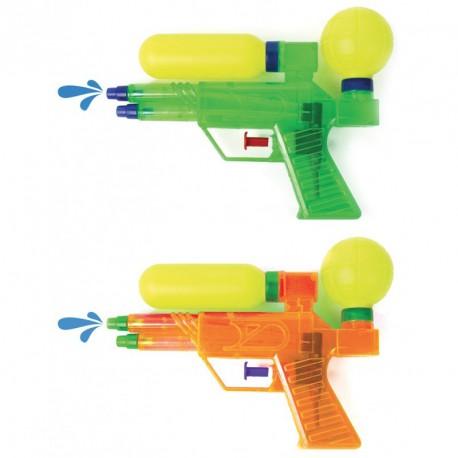 Pistolet à eau double jet 17 cm (lot de 12)