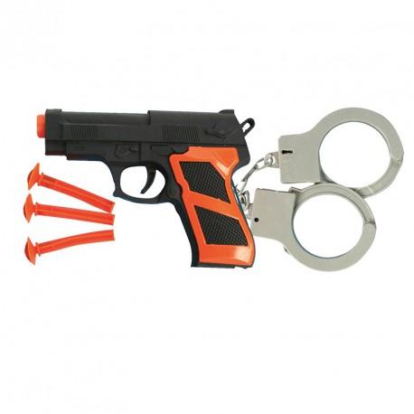 Pistolet + menottes (lot de 12)