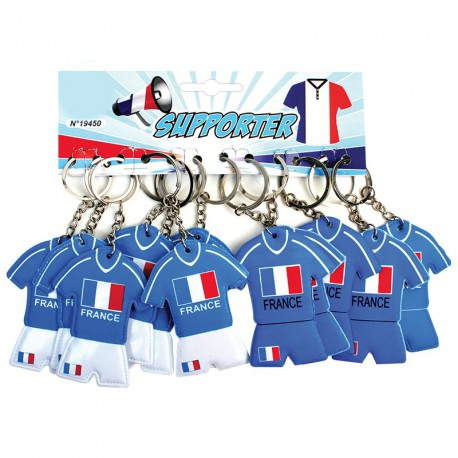 Porte-clés maillot foot France (lot de 12)