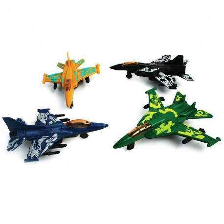 Avion de chasse rétrofriction (lot de 12)