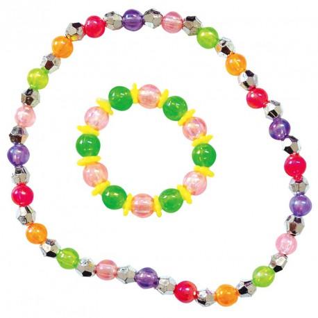 Bijou collier + bracelet perles (lot de 12)