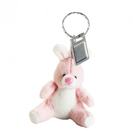 Porte-clés peluche lapin (lot de 12)