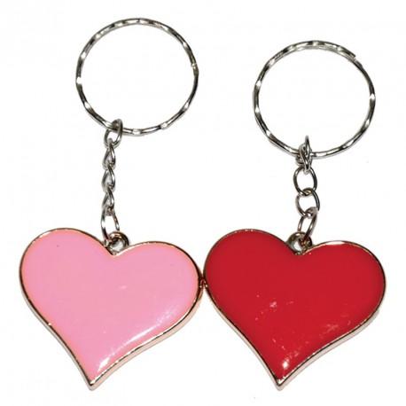 Porte-clés cœur métal (lot de 12)