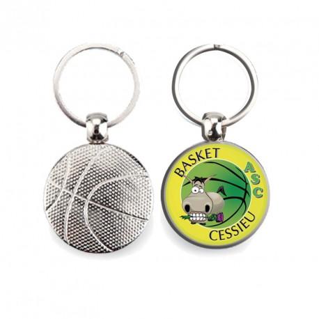 Porte-clés ballon métal