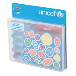 Pochette de 6 mini stylos et stickers