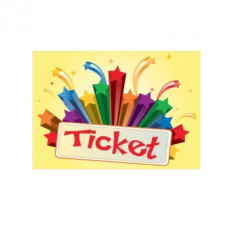 "Lot de 1000 coupons ""Tickets"""