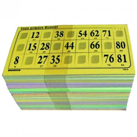 Cartes de loto Bristol personnalisées (lot de 500)