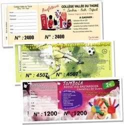 Tickets à souche en couleur