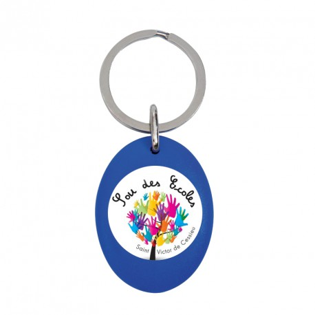 Porte-clés jeton fun - bleu