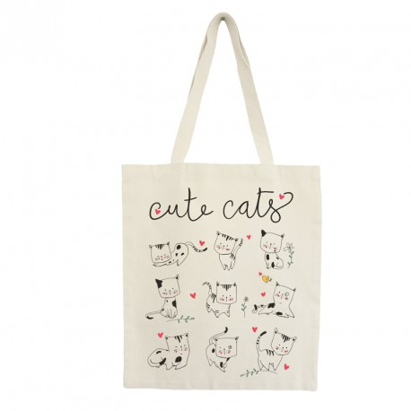 "Tote bag ""cute cats"""