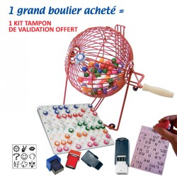 1 grand boulier acheté = 1 kit tampon validation offert