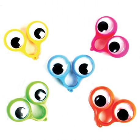 Farce bague gros yeux (lot de 12)