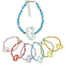 Bracelet cœur (lot de 36)