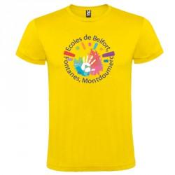 Tee-shirt couleur personnalisé : sans limite de couleurs 1 face