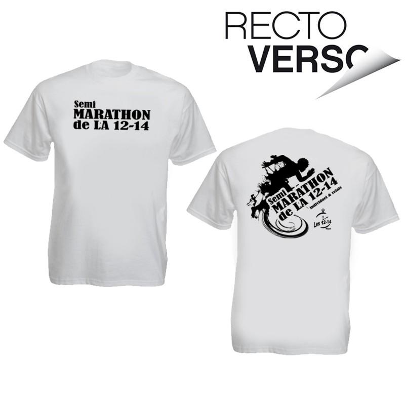 Shirt Personnalisé1 Tee Recto Blanc Couleur Verso doeWCxBr