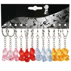 Porte-clés ours cristal (lot de 12)