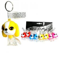 Porte-clés lampe chien (lot de 12)