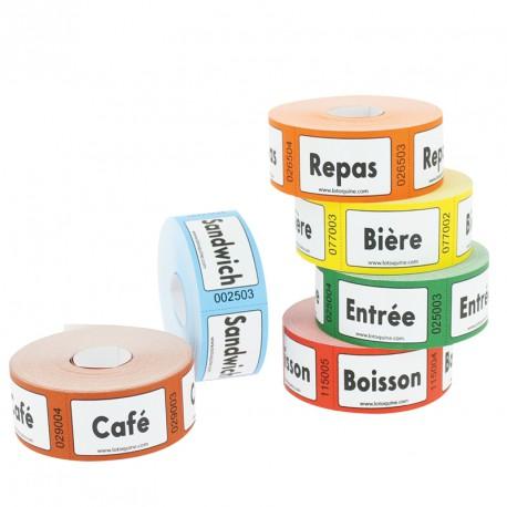 """Tickets en rouleaux """"café"""""""
