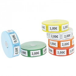 "Tickets en rouleaux ""1.00 €"""