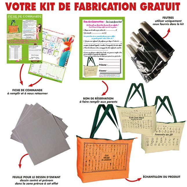 KIT FABRICATION GRATUIT-SAC FOURRE TOUT-