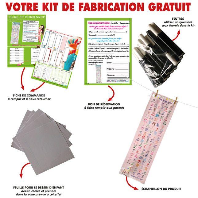KIT FABRICATION GRATUIT SERVIETTE 30 X 1