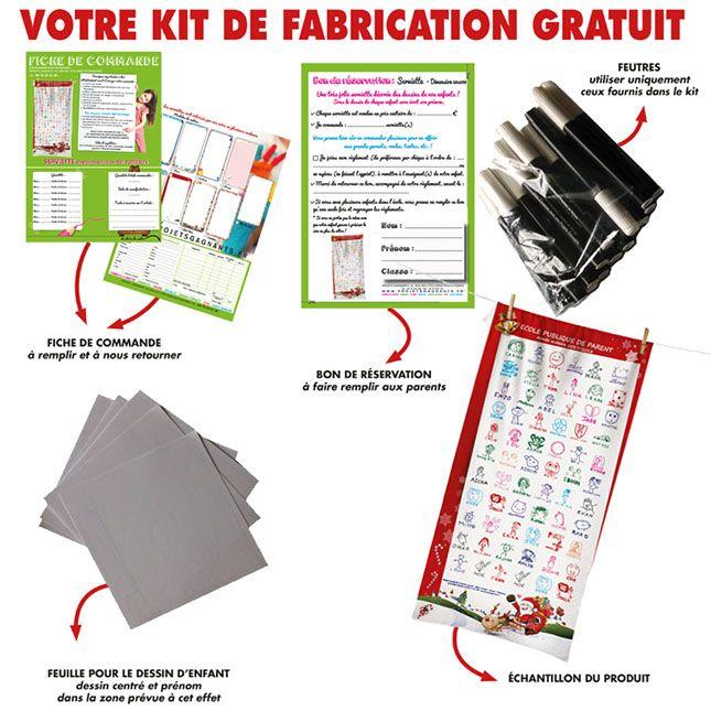 KIT FABRICATION GRATUIT SERVIETTE 50 X 100